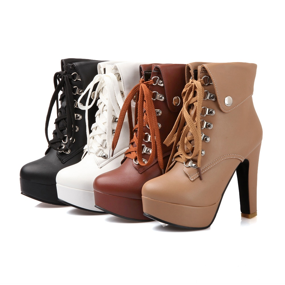women's ankle high heel boots
